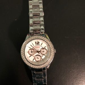 Jewelry - Silver Fossil Watch